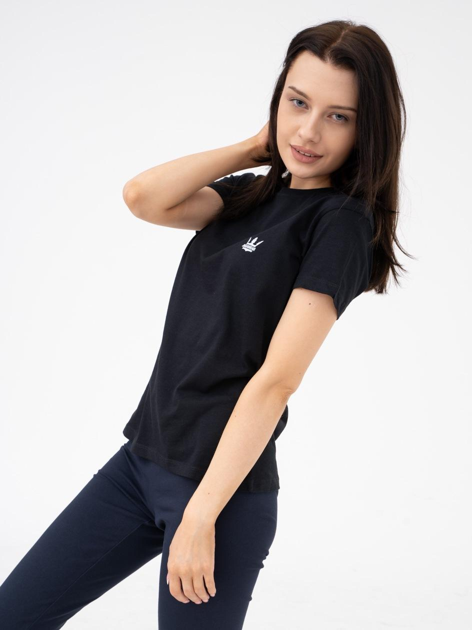 Damska Koszulka Z Krótkim Rękawem Jigga Mini Logo Czarna