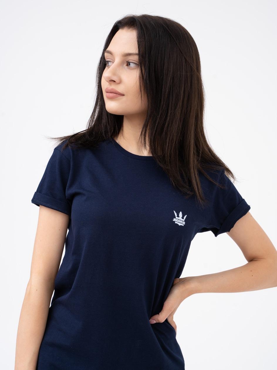 Damska Koszulka Z Krótkim Rękawem Jigga Mini Logo Granatowa