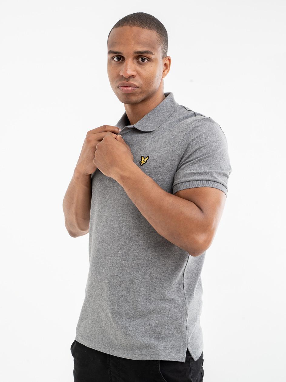 Koszulka Polo Z Krótkim Rękawem Lyle & Scott Polo Shirt Szara