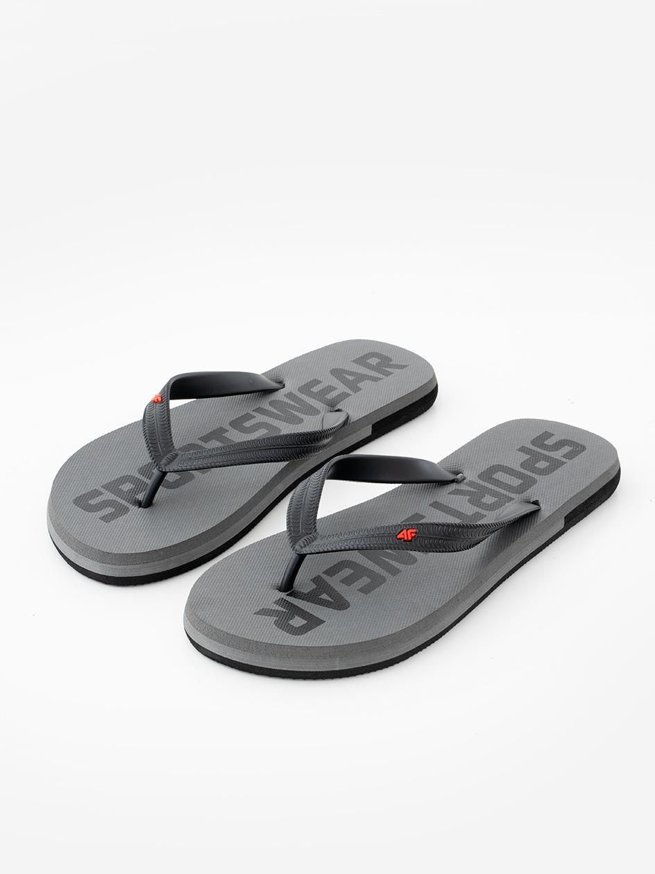 Klapki Japonki 4F Sportswear Ciemne Szare