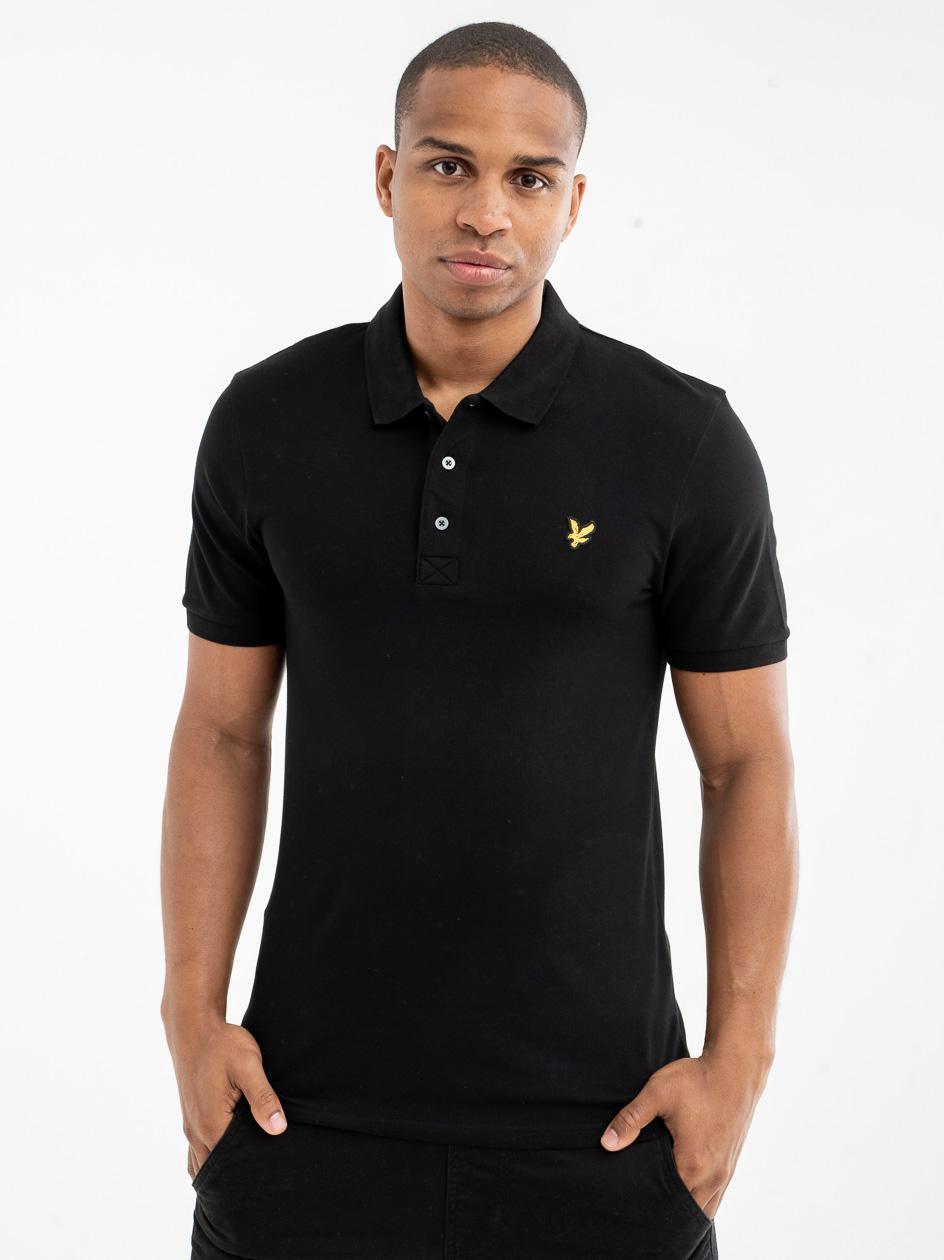 Koszulka Polo Z Krótkim Rękawem Lyle & Scott Polo Shirt Jet Czarna