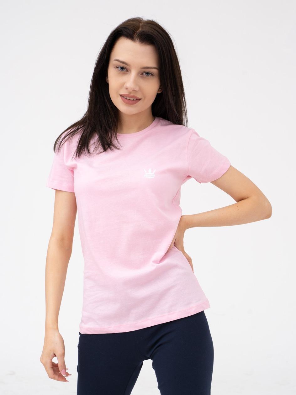 Damska Koszulka Z Krótkim Rękawem Jigga Mini Logo Różowa