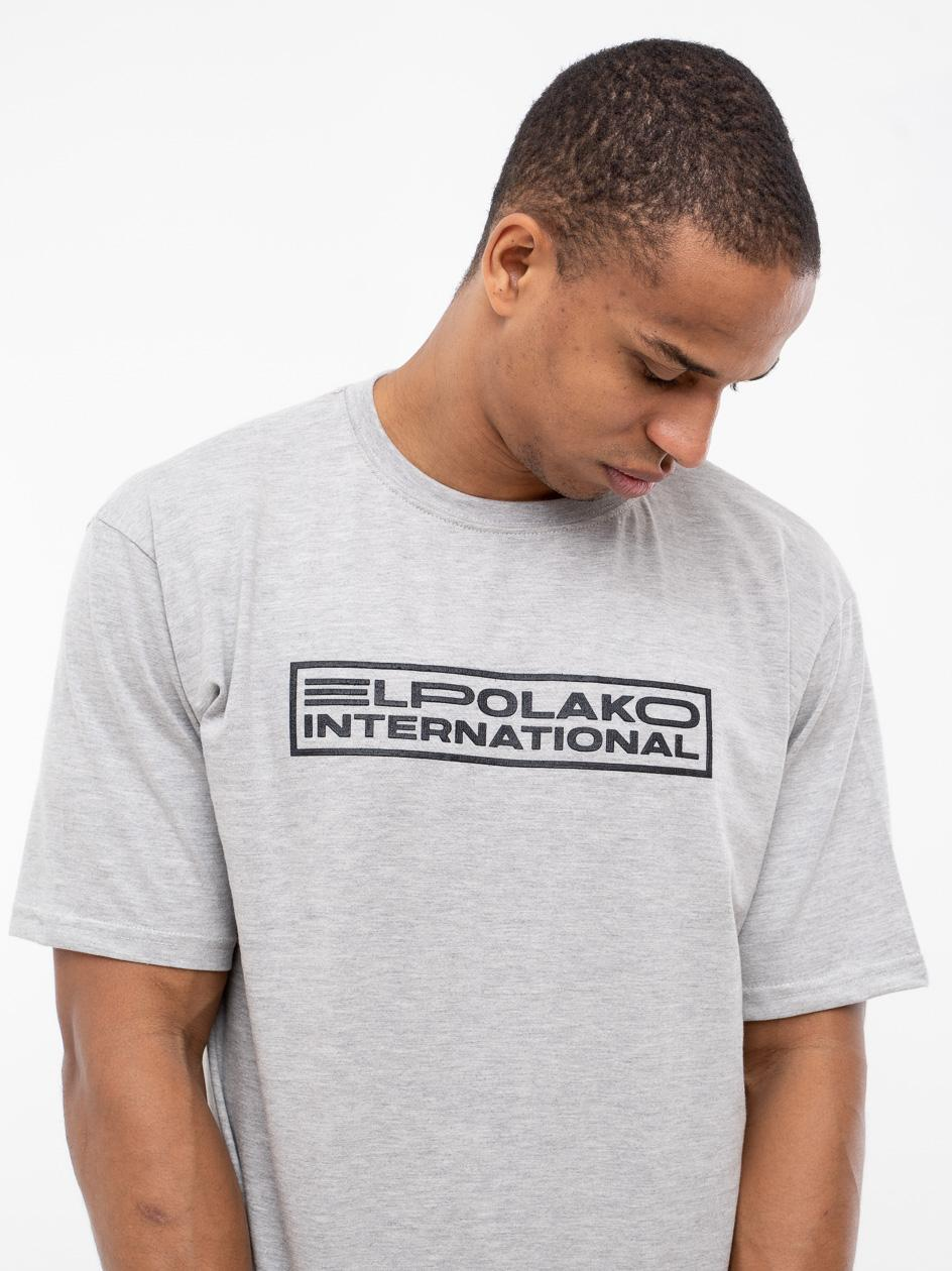 Koszulka Z Krótkim Rękawem El Polako International Szara