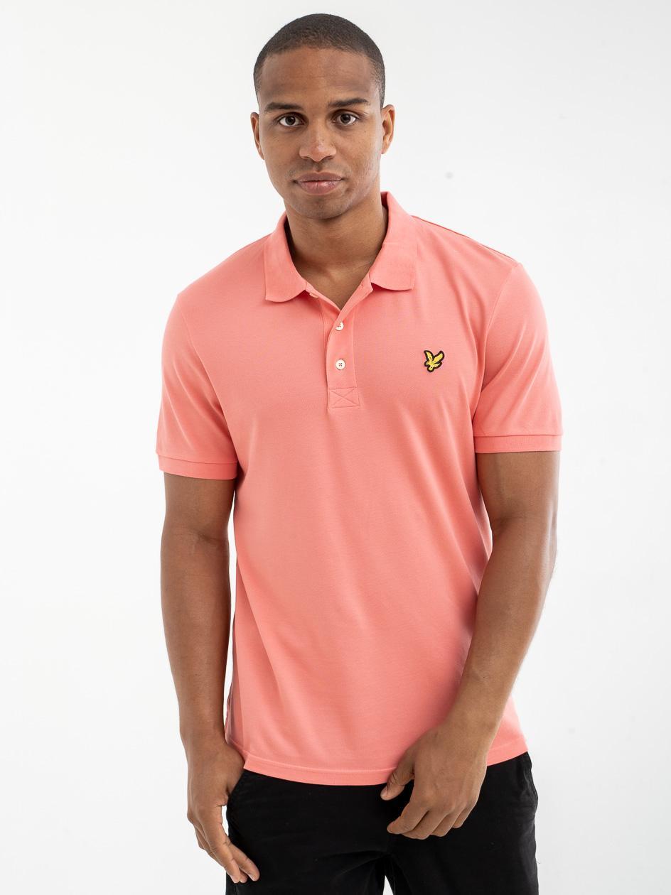Koszulka Polo Z Krótkim Rękawem Lyle & Scott Plain Polo Shirt Różowa