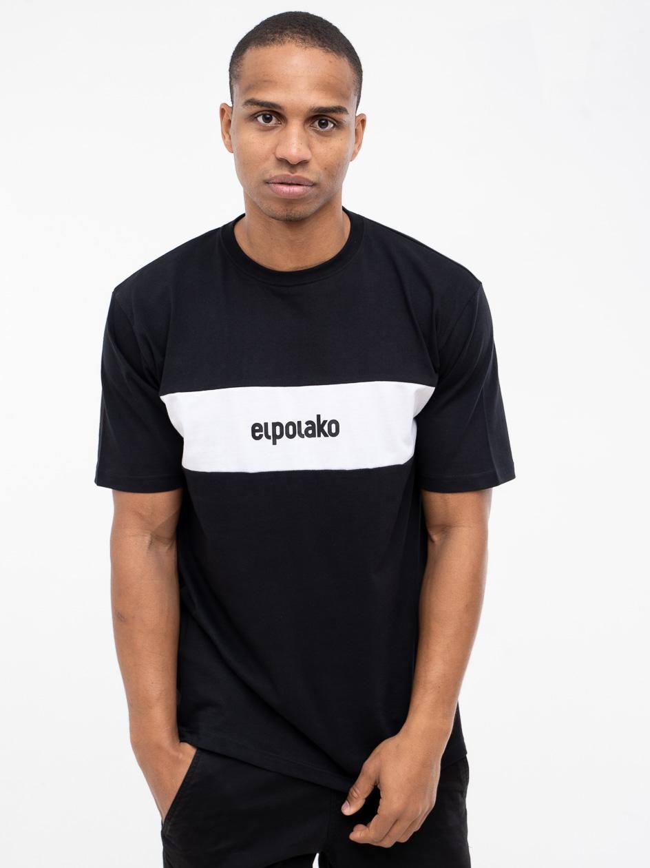 Koszulka Z Krótkim Rękawem El Polako Stripe Czarna