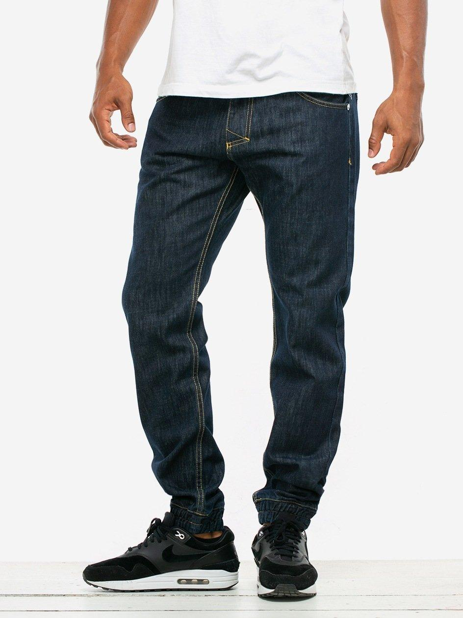 Spodnie Jeansowe Jogger Mass Base Ciemne Niebieskie
