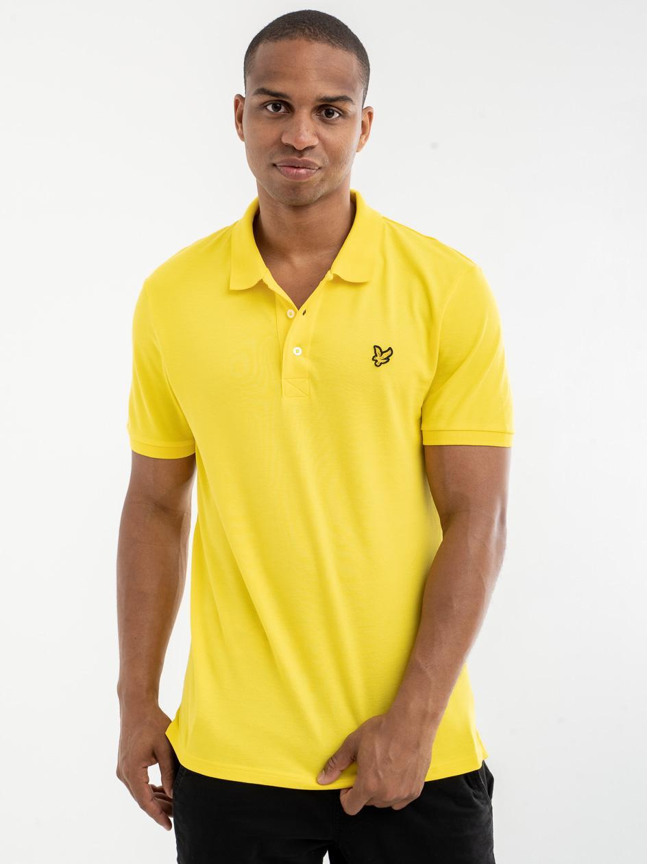 Koszulka Polo Z Krótkim Rękawem Lyle & Scott Plain Polo Shirt Żółta