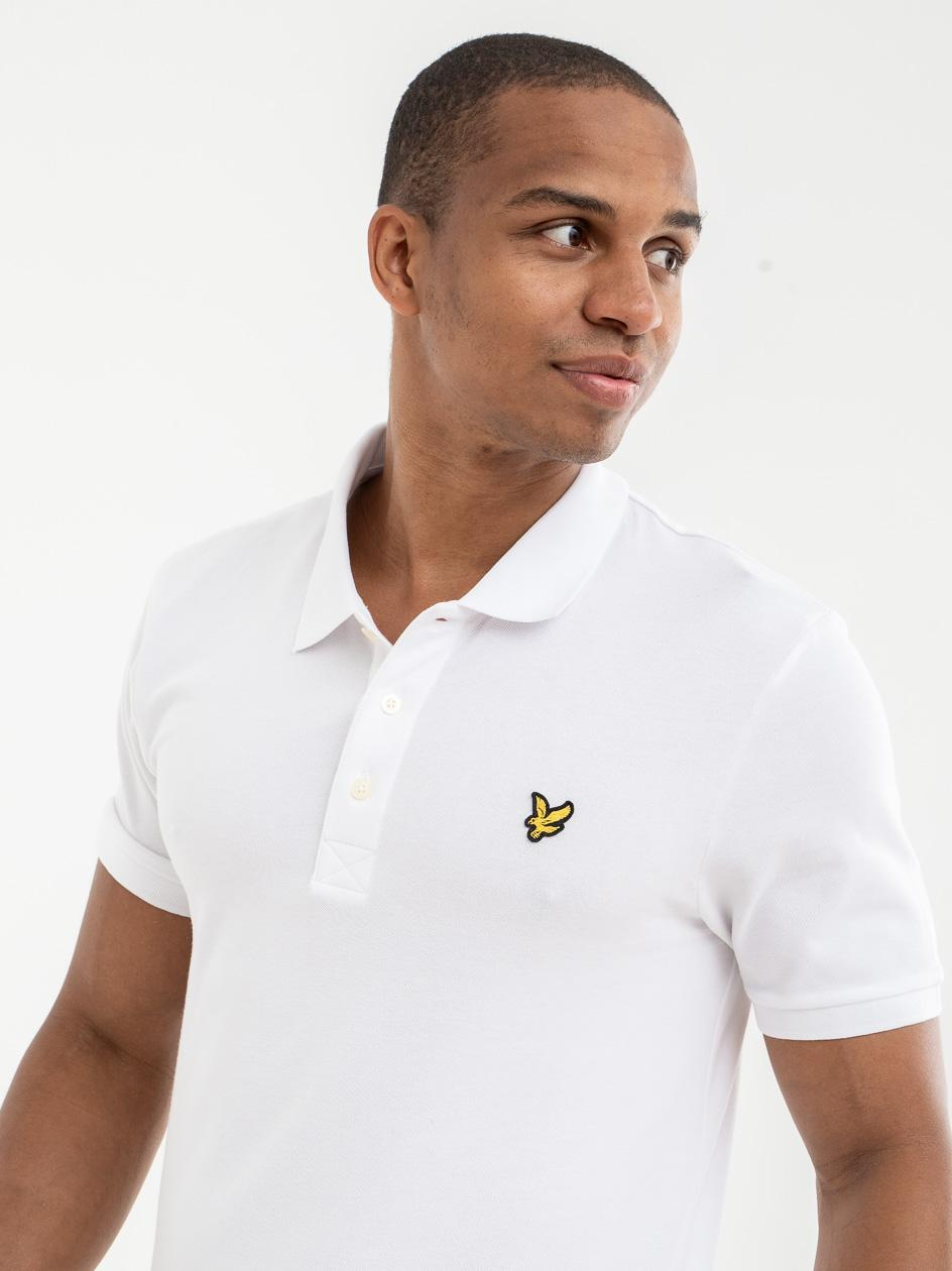 Koszulka Polo Z Krótkim Rękawem Lyle & Scott Plain Polo Shirt Biała