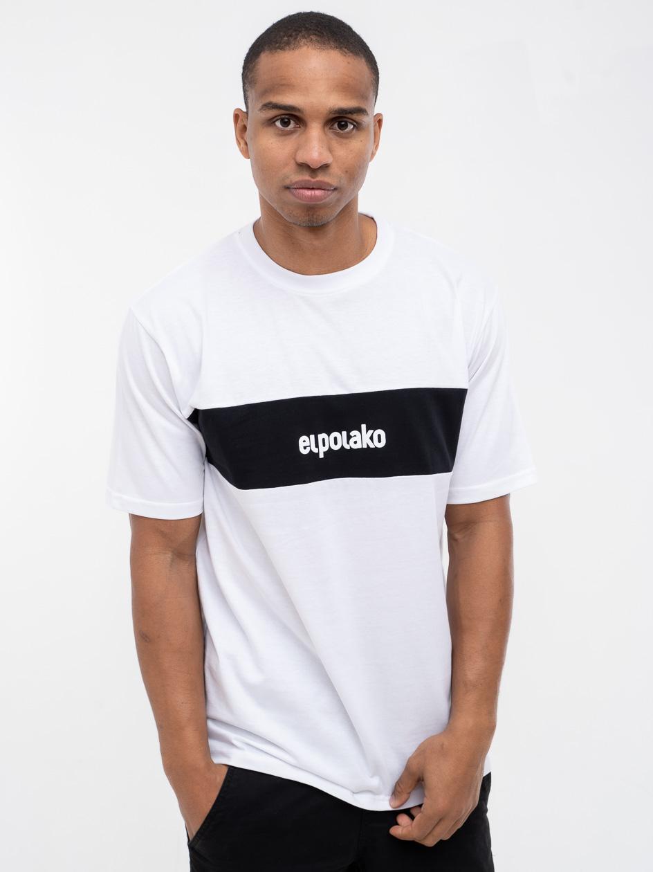 Koszulka Z Krótkim Rękawem El Polako Stripe Biała
