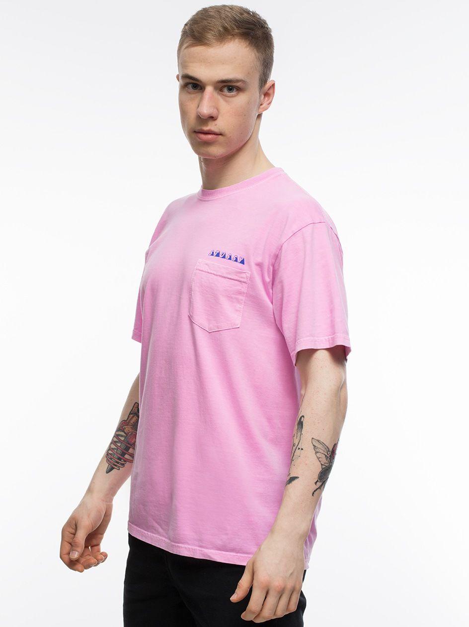 Psycho Tropics P. Dyded Pkt Tee Pink