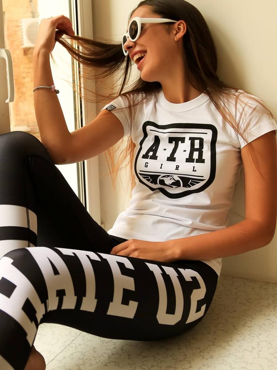 Damskie Legginsy ATR Wear Hate U2 Czarne