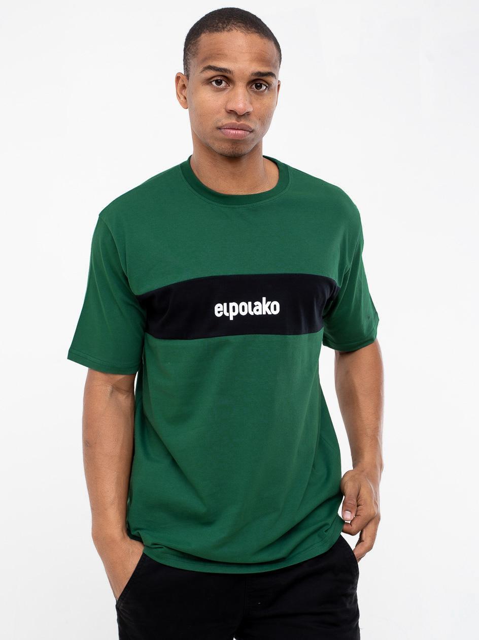 Koszulka Z Krótkim Rękawem El Polako Stripe Zielona