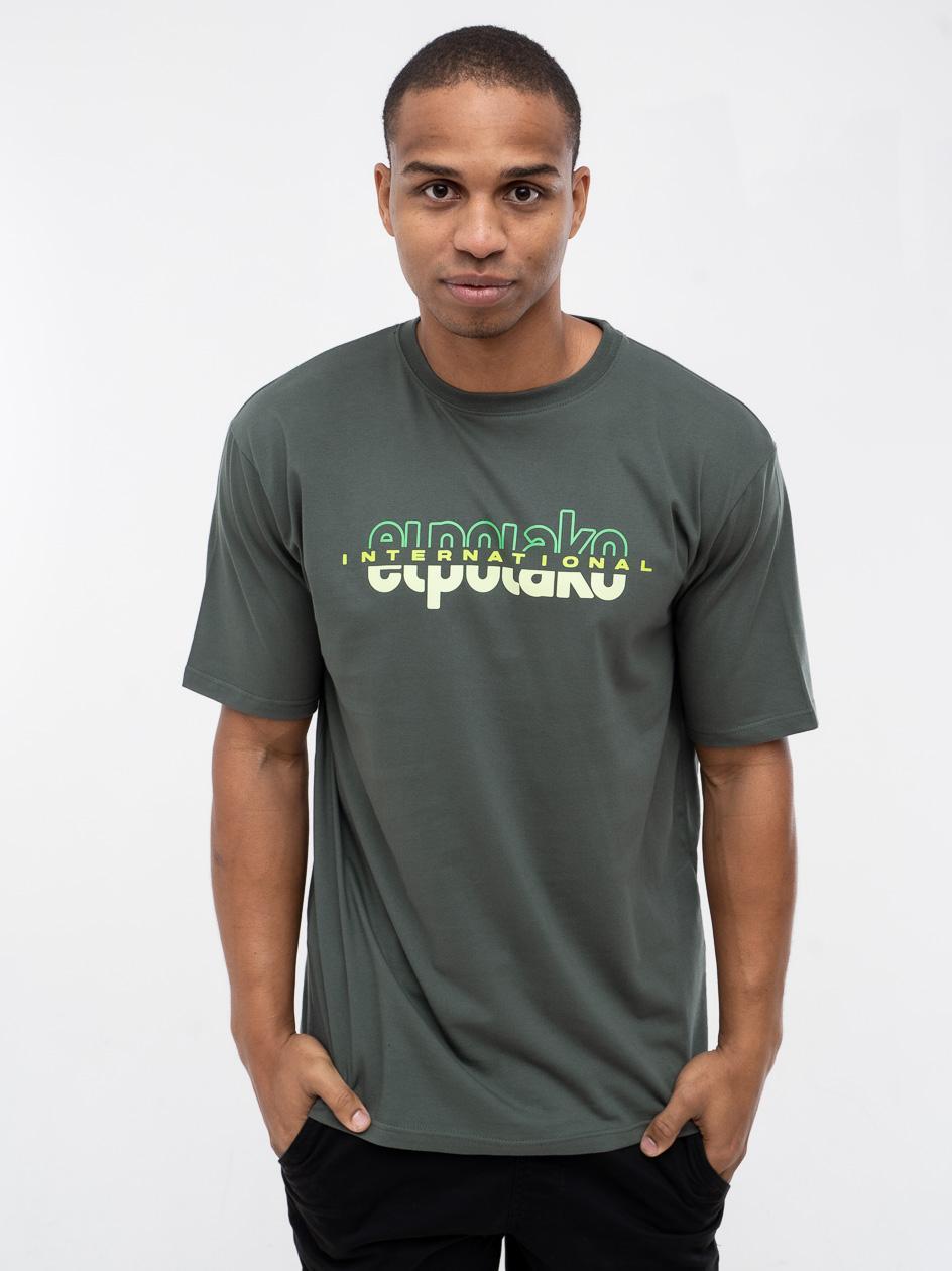 Koszulka Z Krótkim Rękawem El Polako Classic International Khaki
