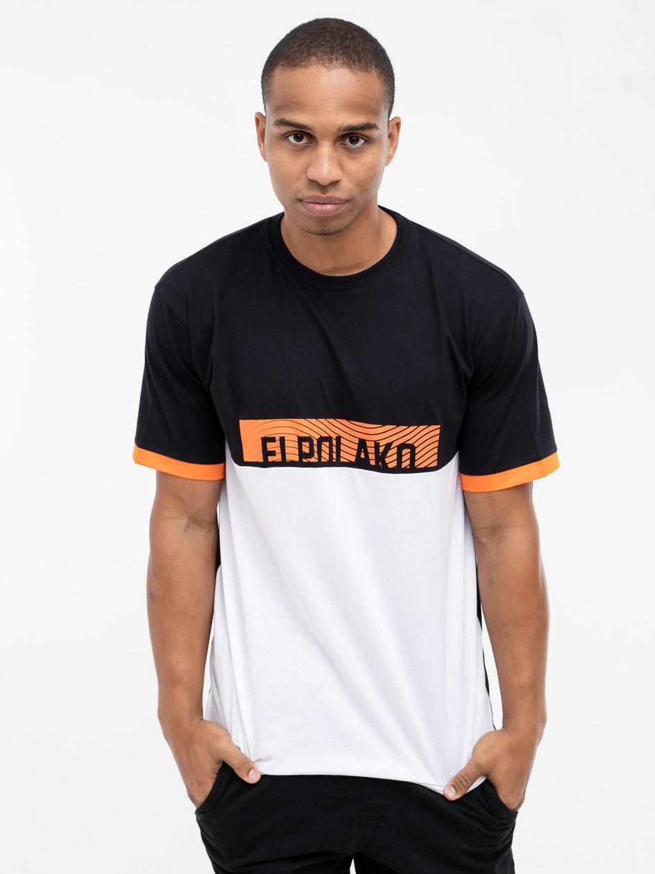 Koszulka Z Krótkim Rękawem El Polako 3 Cut Czarna / Biała