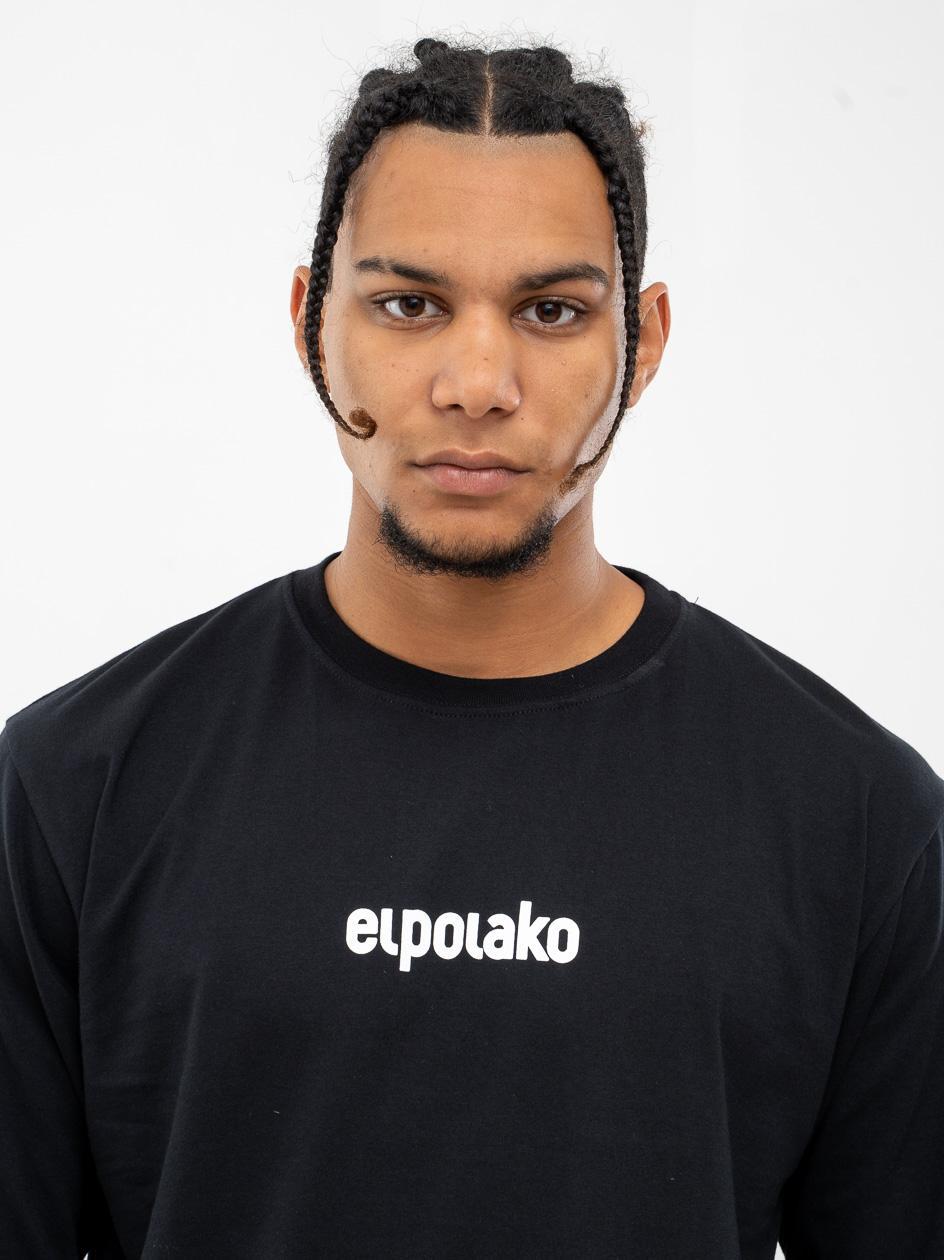 Koszulka Z Długim Rękawem El Polako Small Logo Czarna