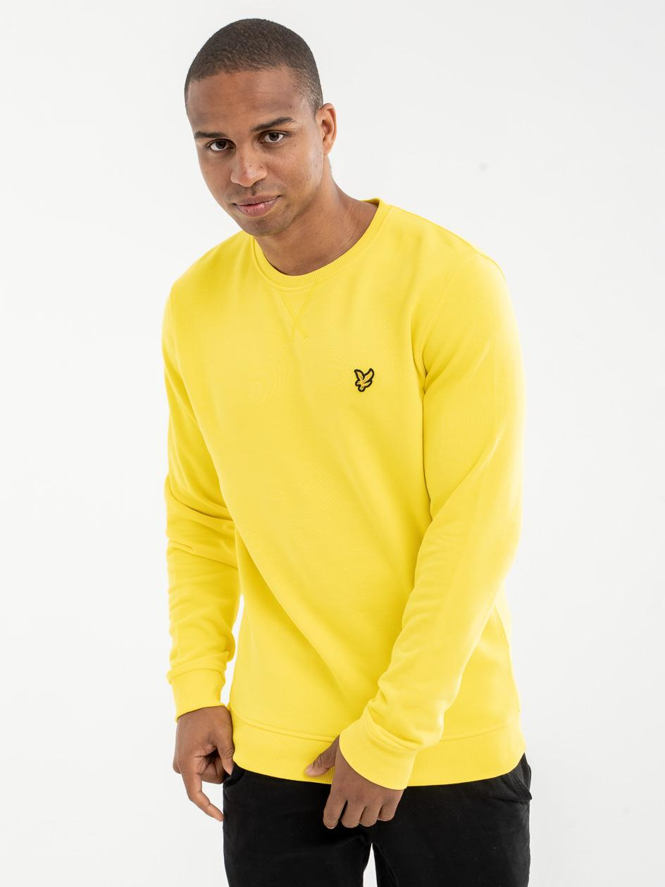 Bluza Bez Kaptura Lyle & Scott Crew Neck Żółta
