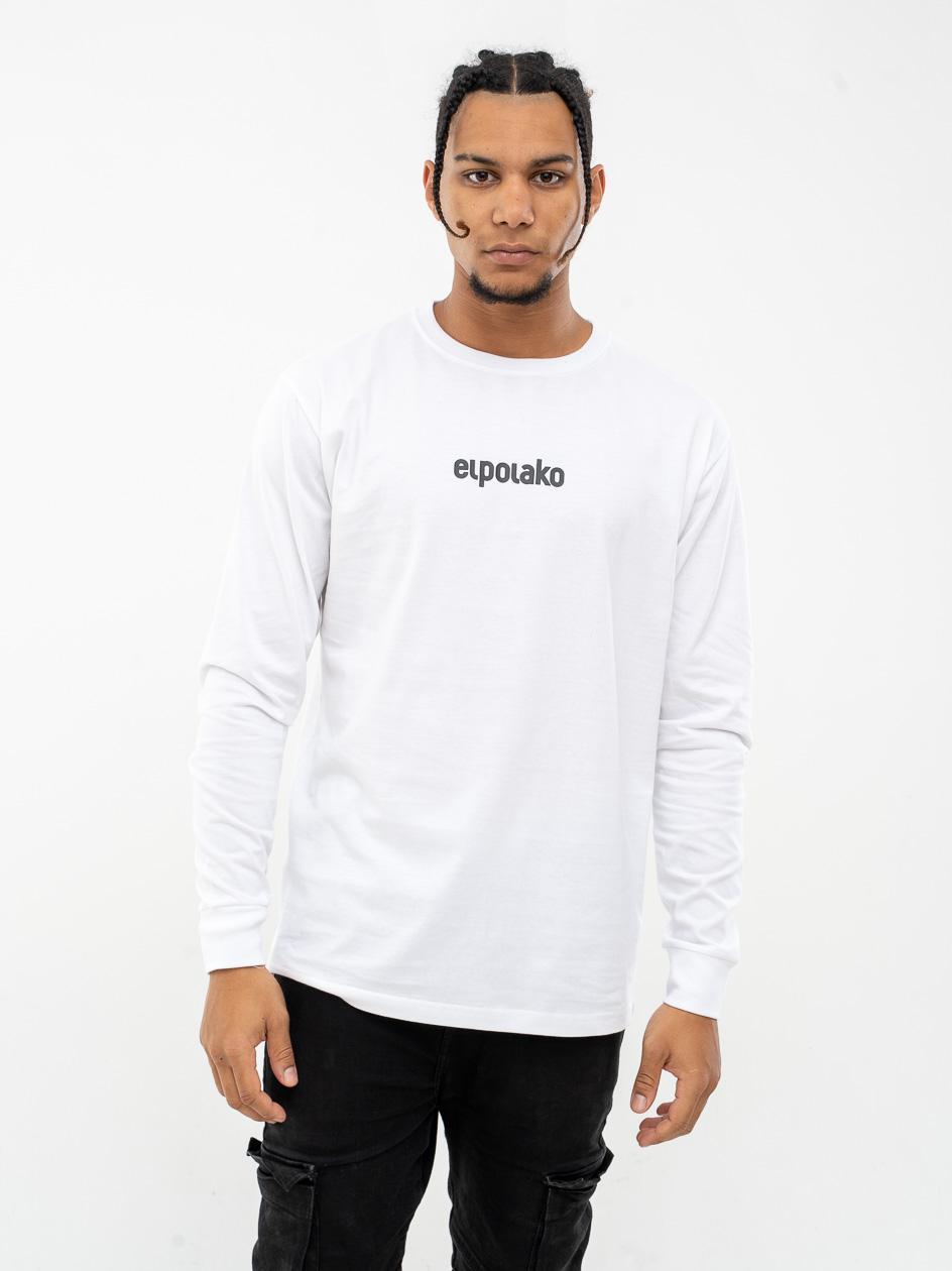Koszulka Z Długim Rękawem El Polako Small Logo Biała