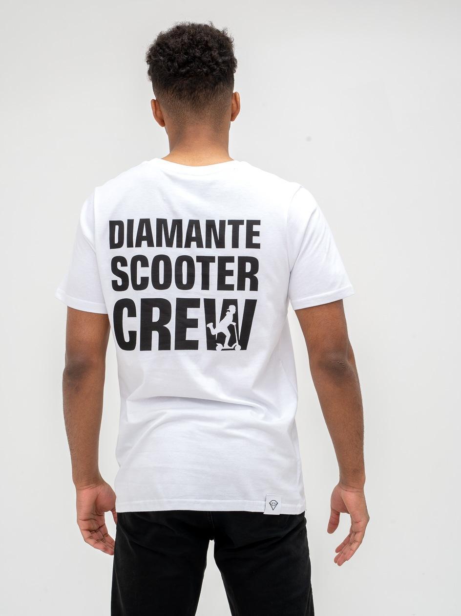 Koszulka Z Krótkim Rękawem Diamante Wear Scooter Biała