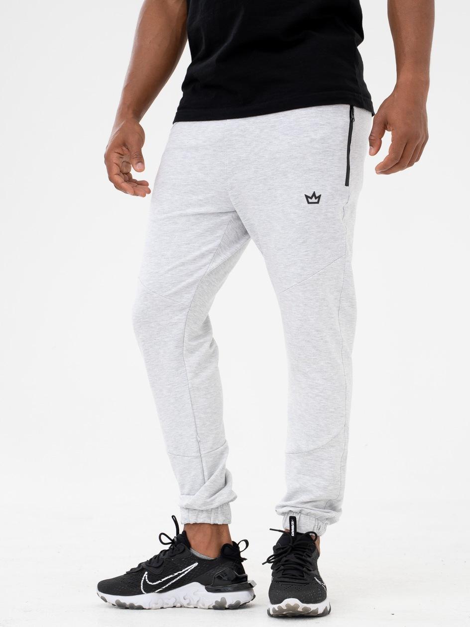 Spodnie Dresowe Breezy King Logo Jasne Szare