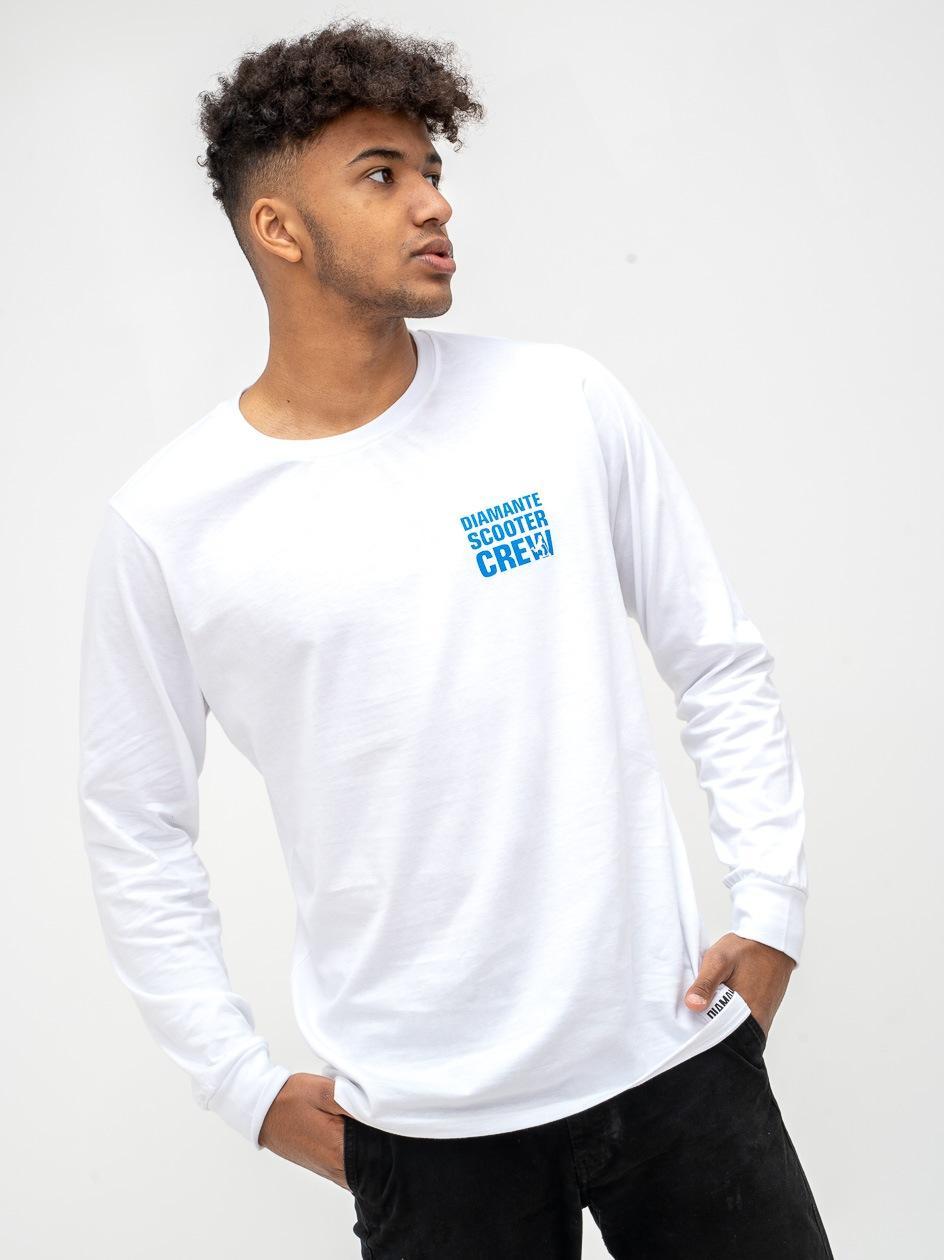 Koszulka Z Długim Rękawem Diamante Wear Scooter Crew Biała
