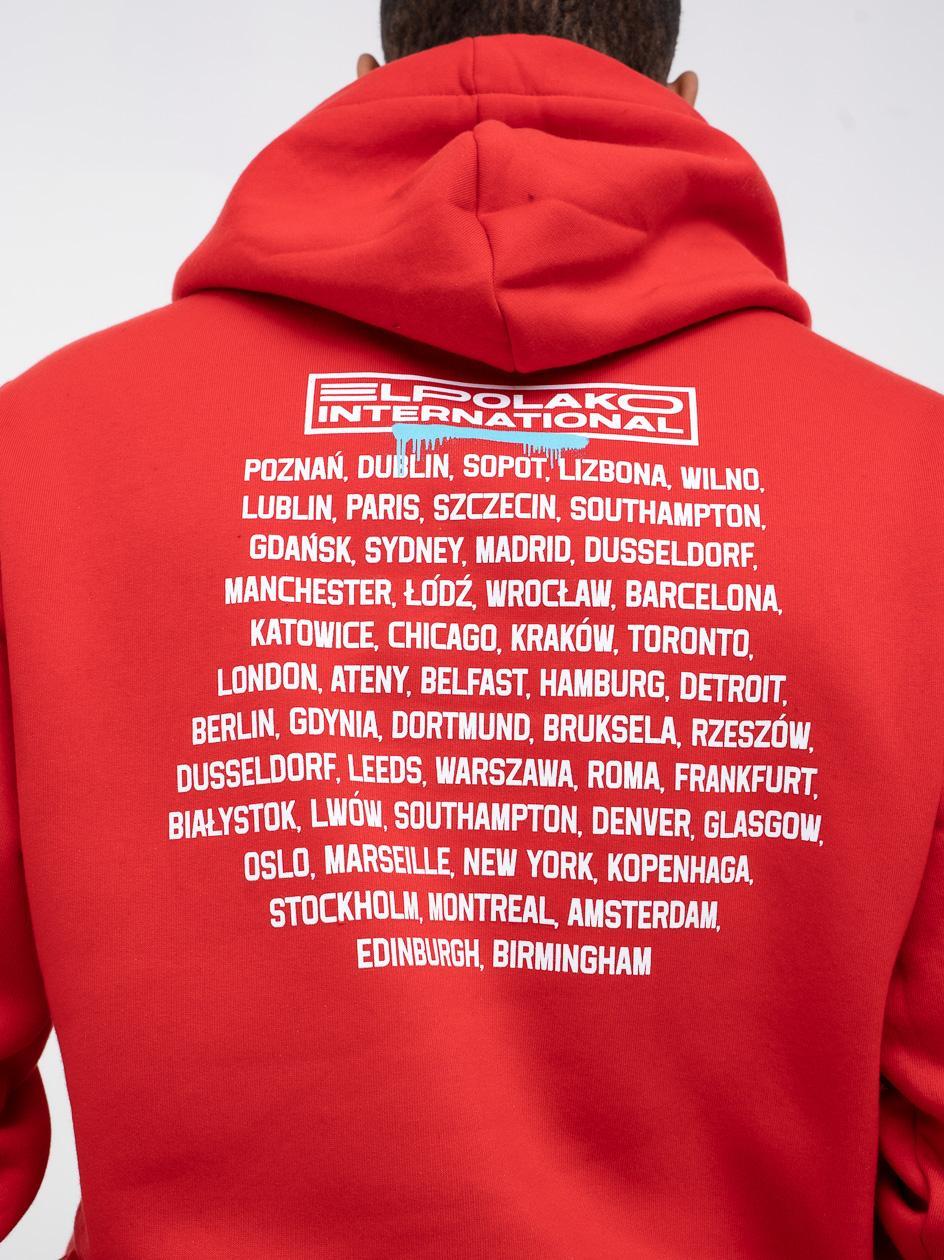 Bluza Z Kapturem El Polako Dumni International Czerwona
