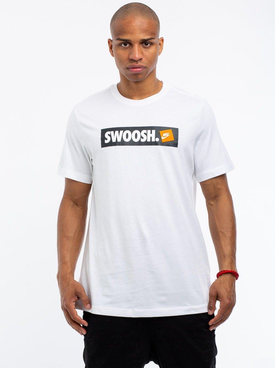 NSW Tee Swoosh BMPR STKR White