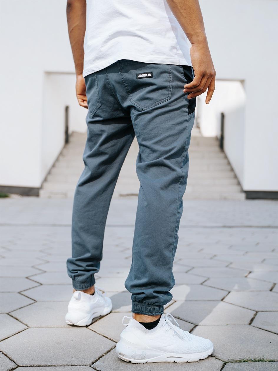 Spodnie Materiałowe Jogger Jigga Nexto Ciemne Szare