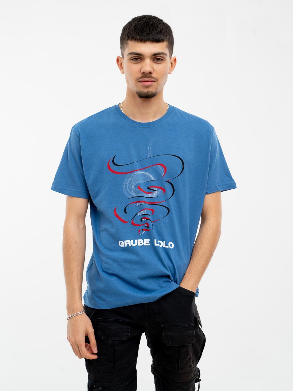 Koszulka Z Krótkim Rękawem Grube Lolo Colour Smoke Niebieska