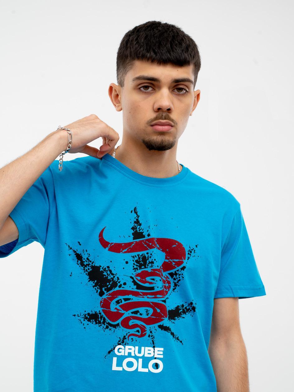 Koszulka Z Krótkim Rękawem Grube Lolo Cracked Logo Turkusowa
