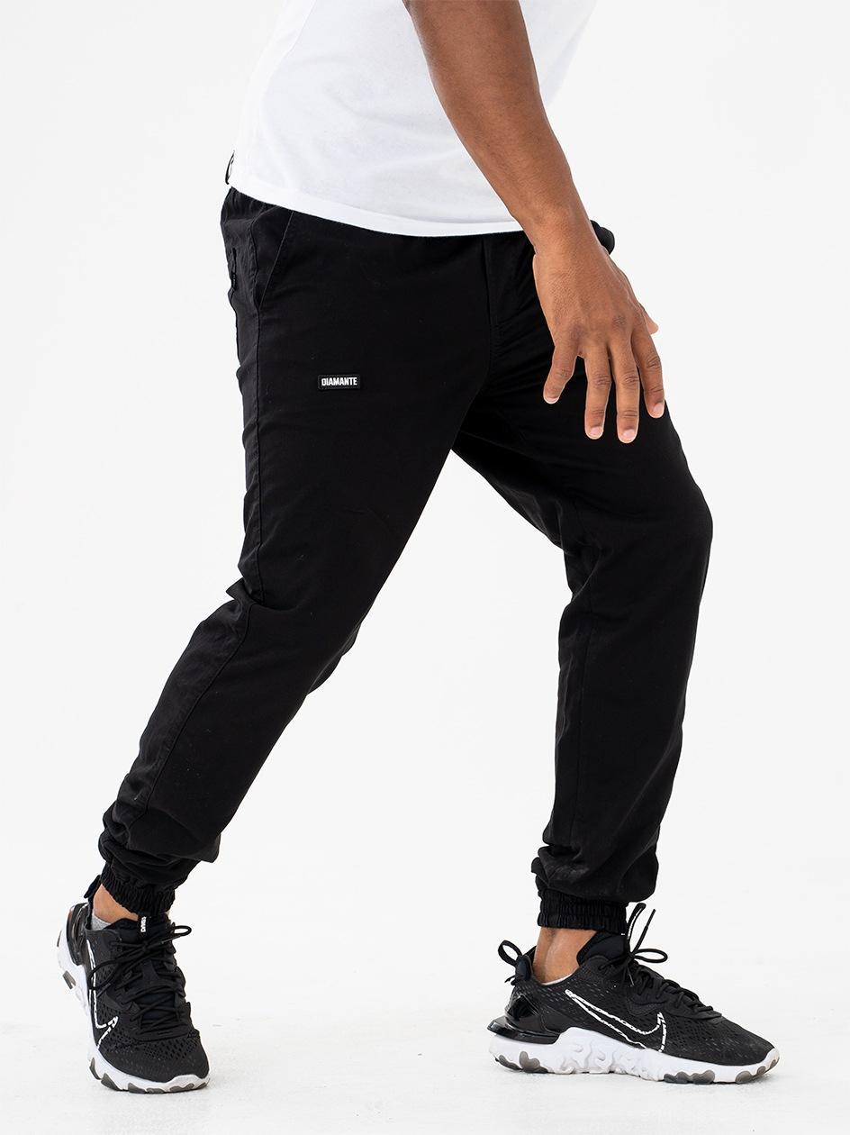 Spodnie materiałowe Jogger Ze Ściągaczem Diamante Wear DC Czarne