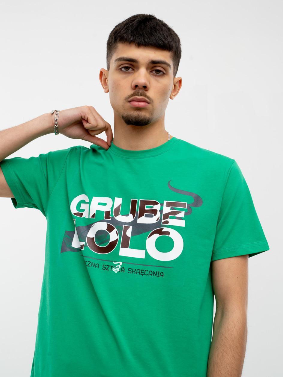 Koszulka Z Krótkim Rękawem Grube Lolo White Camo Name Zielona