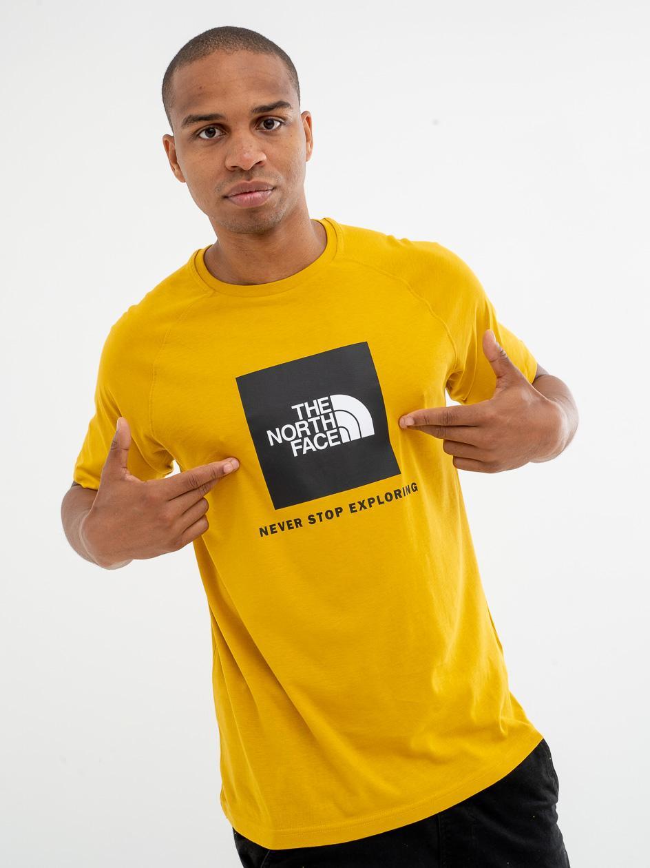 Koszulka Z Krótkim Rękawem The North Face Rag Red Box Żółta / Czarna