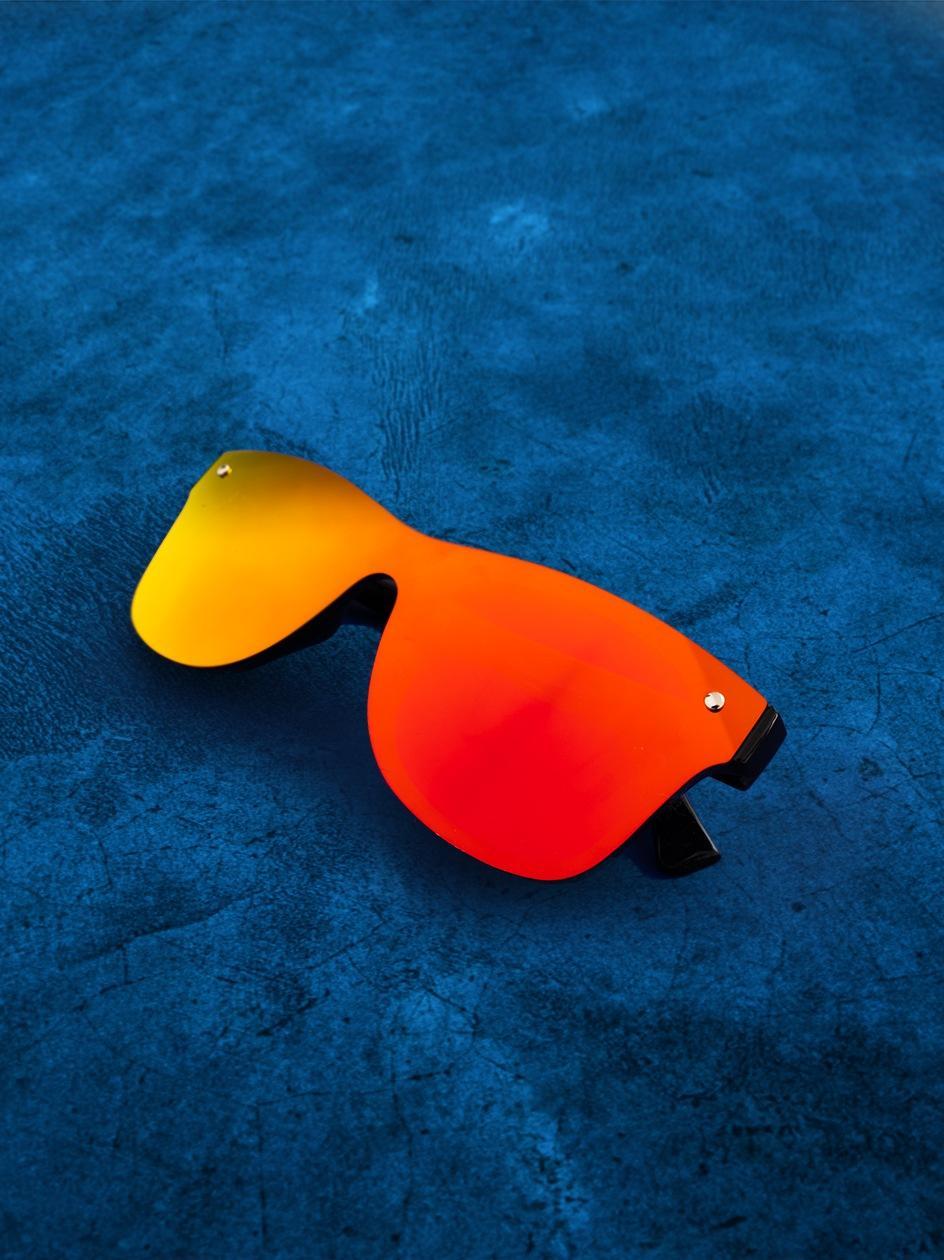 Okulary Przeciwsłoneczne Jigga Wear Glass Wayfarer Czarne / Czerwone