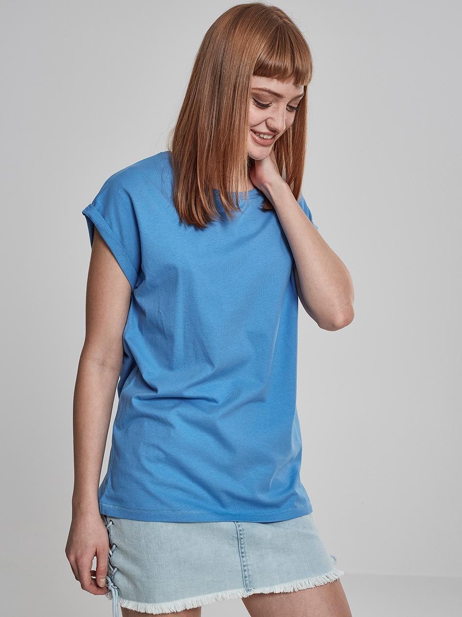 Damska Lużna Koszulka Z Krótkim Rękawem Urban Classics TB771 Jasna Niebieska