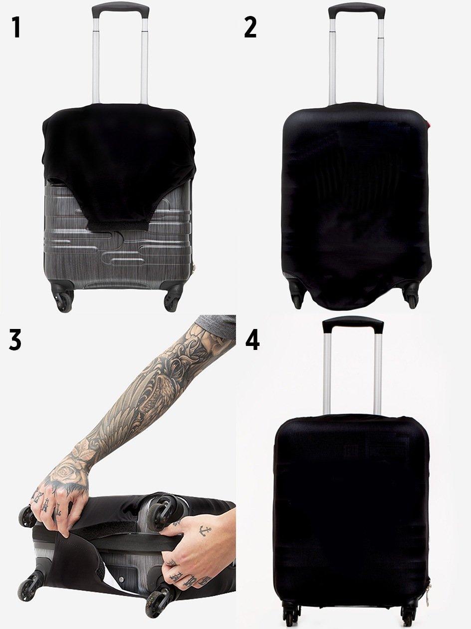Deadpool Marvel Comics Camo Logo Suitcase Cover Black