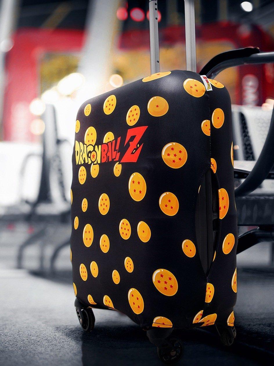 Logo Dragon Ball Z Dragon Balls Pattern Suitcase Cover Black