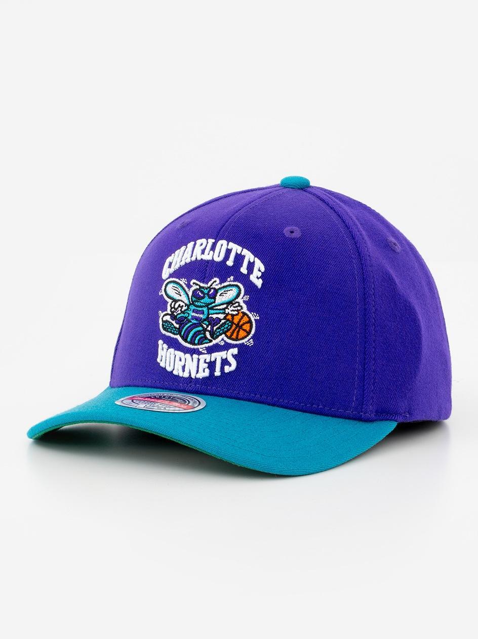 Czapka Snapback Mitchell & Ness Charlotte Hornets NBA Wool 2 Tone Niebieska / Fioletowa