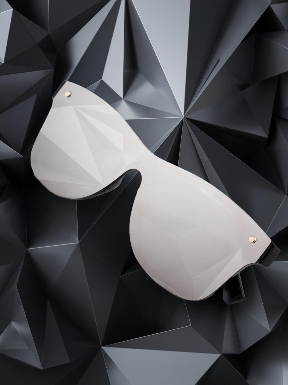 Okulary Przeciwsłoneczne Jigga Wear Glass Wayfarer Czarne / Srebrne