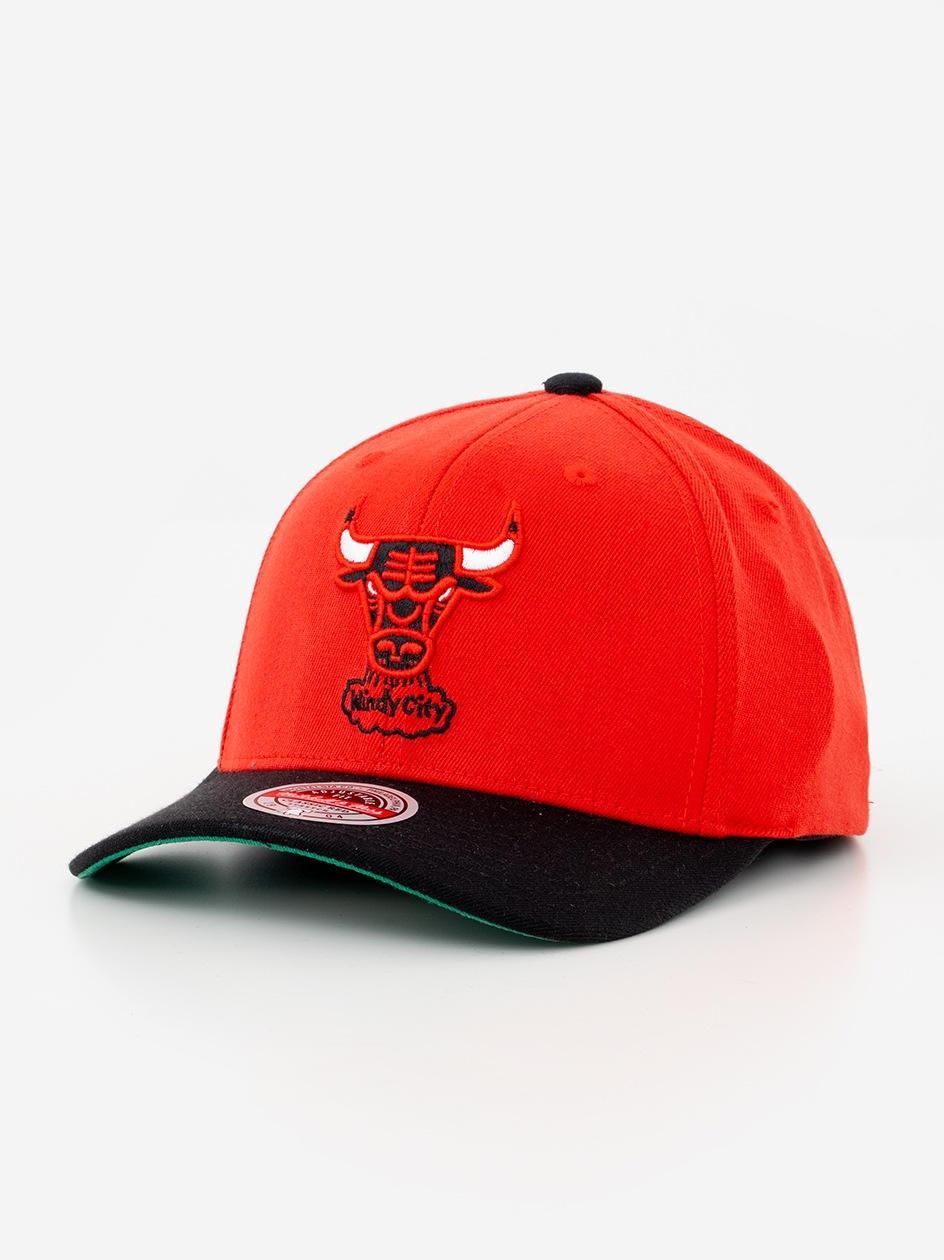 Czapka Snapback Mitchell & Ness Chicago Bulls NBA Wool 2 Tone Czerwona / Czarna