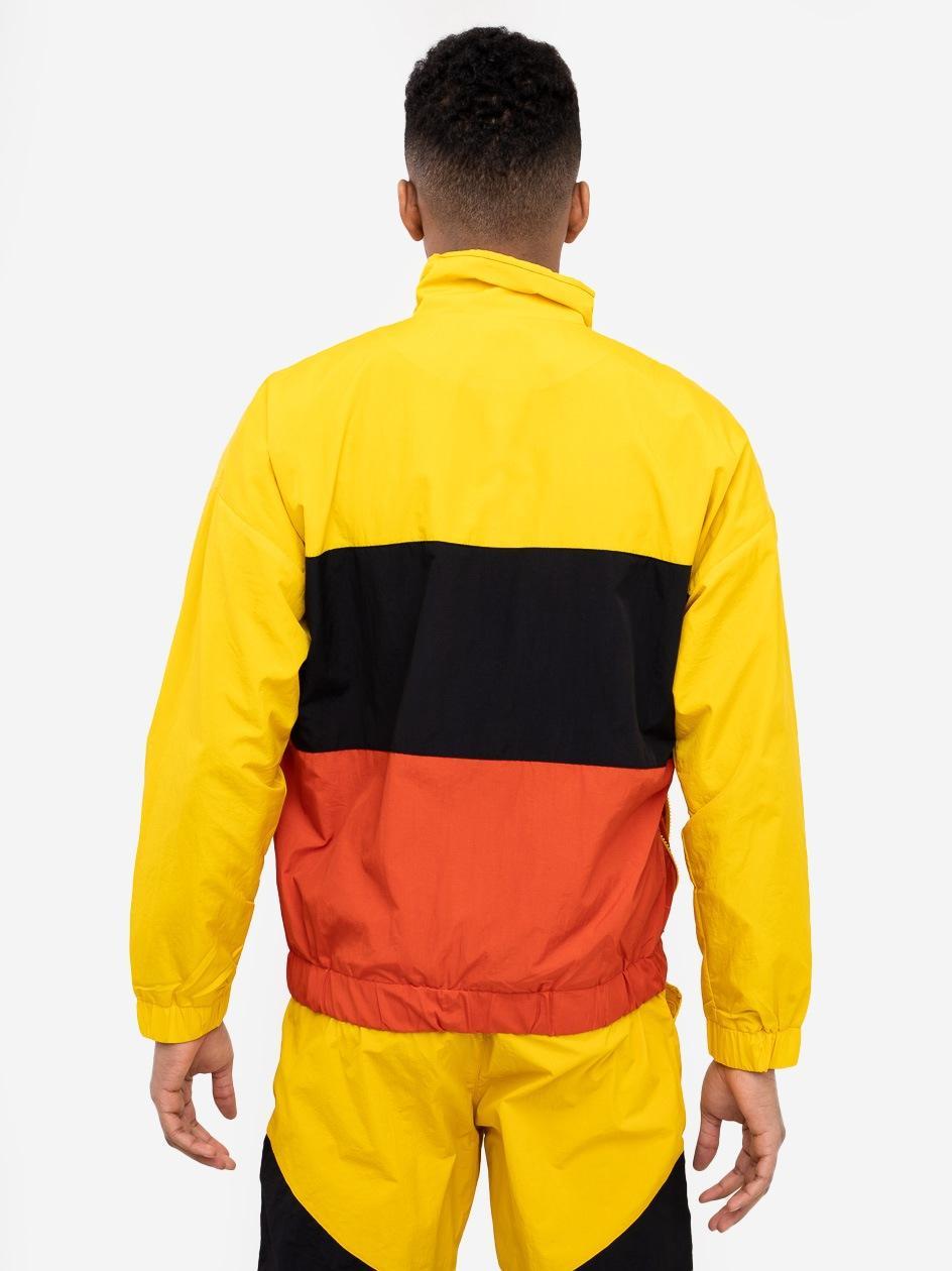 Bluza Rozpinana Z Ortalionu Plus Eighteen Square Żółta / Czarna / Pomarańczowa