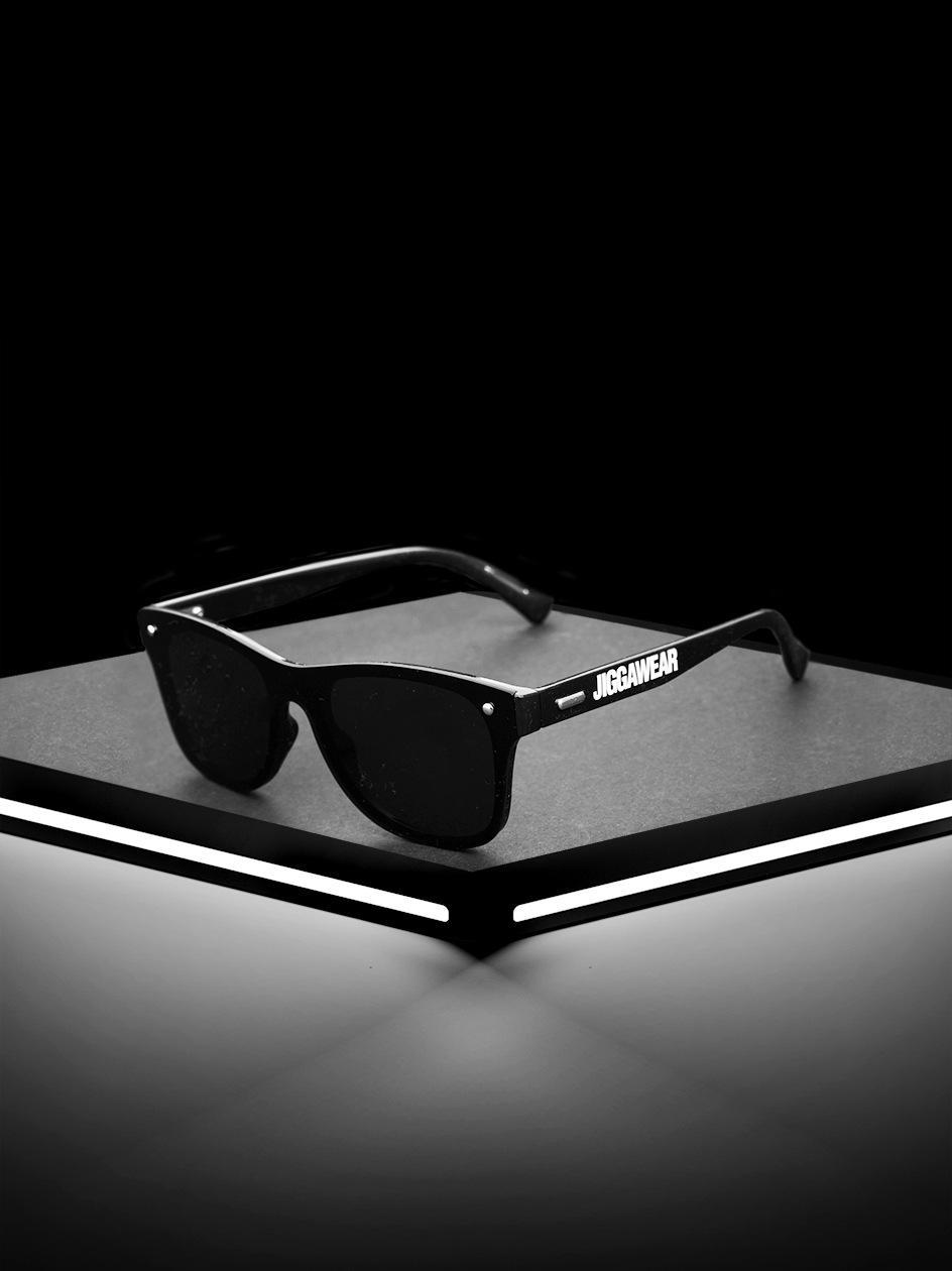 Okulary Przeciwsłoneczne Jigga Wear Glass Wayfarer  Czarne