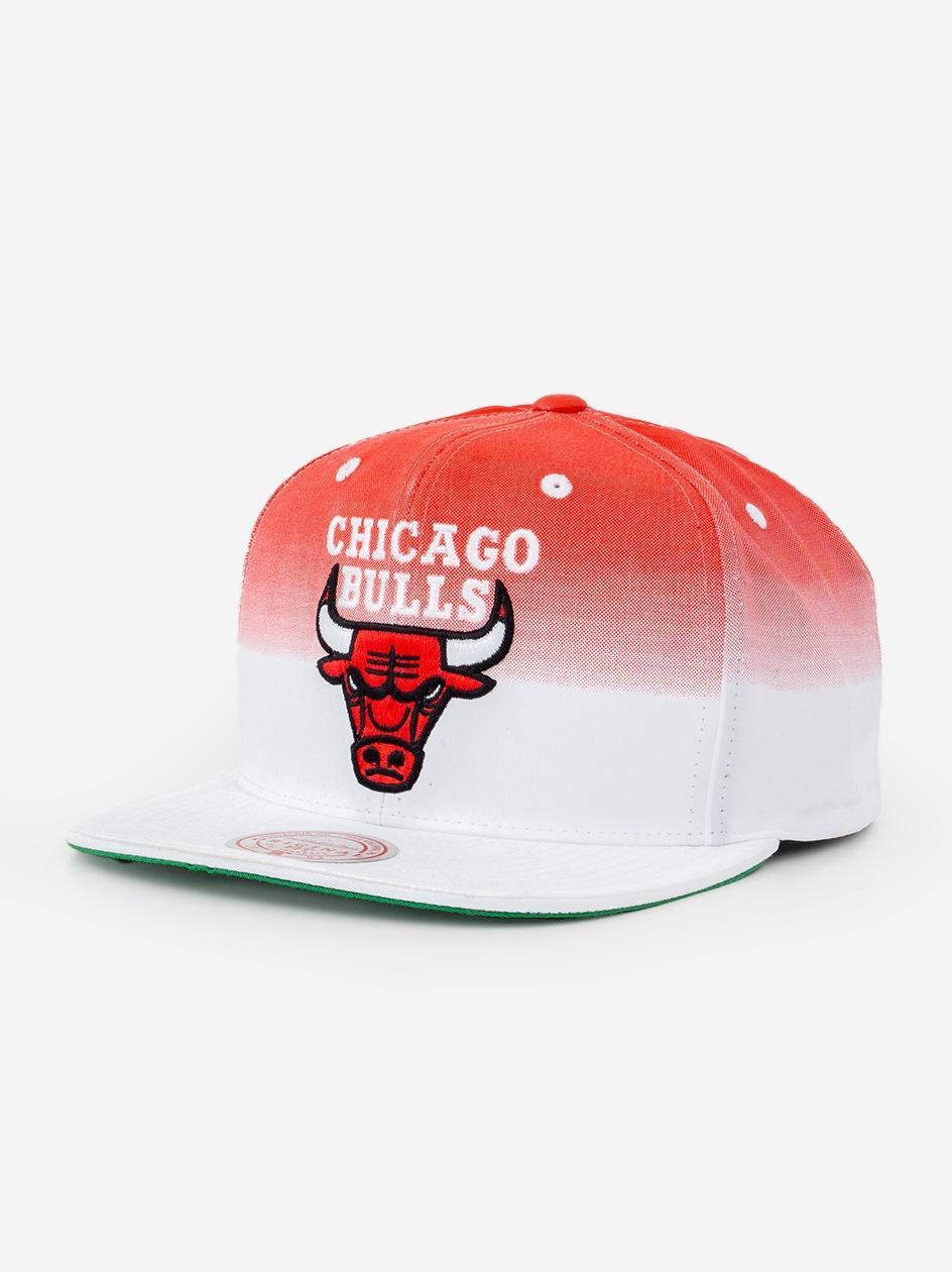 Czapka Snapback Mitchell & Ness Chicago Bulls NBA Colour Biała / Czerwona