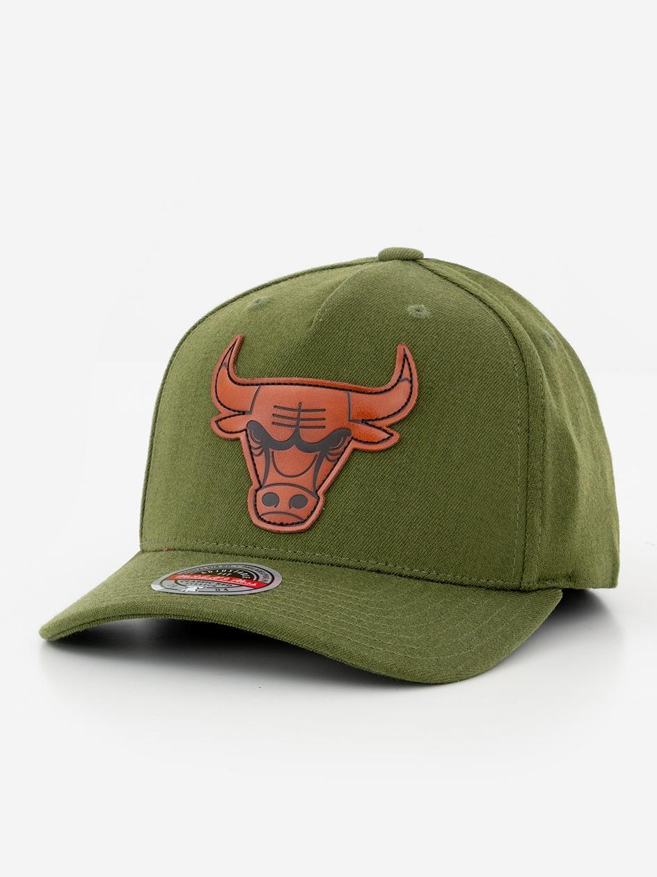 Czapka Snapback Mitchell & Ness Chicago Bulls NBA Pack Oliwkowa