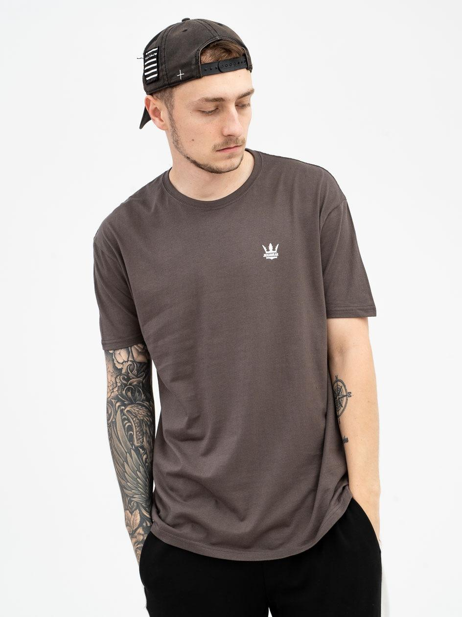 Koszulka Z Krótkim Rękawem Jigga Wear Mini Crown Ciemna Szara
