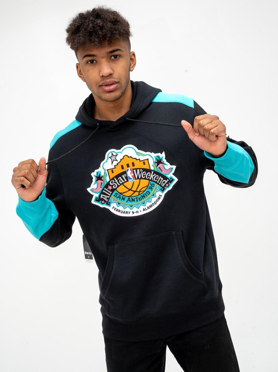 Bluza Z Kapturem Mitchell & Ness All Star NBA Fusion Fleece Czarna