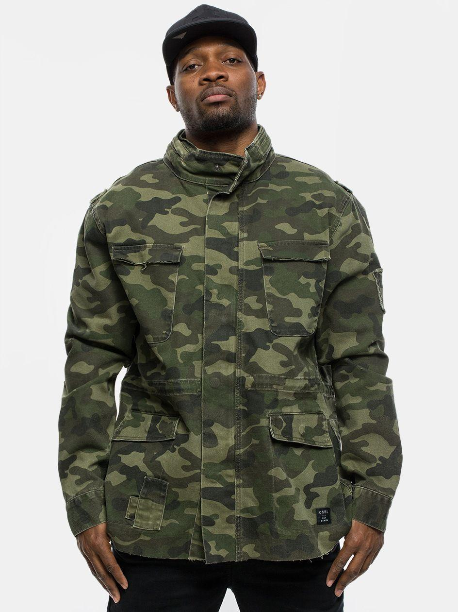 Army Denim Jacket Woodland Camo