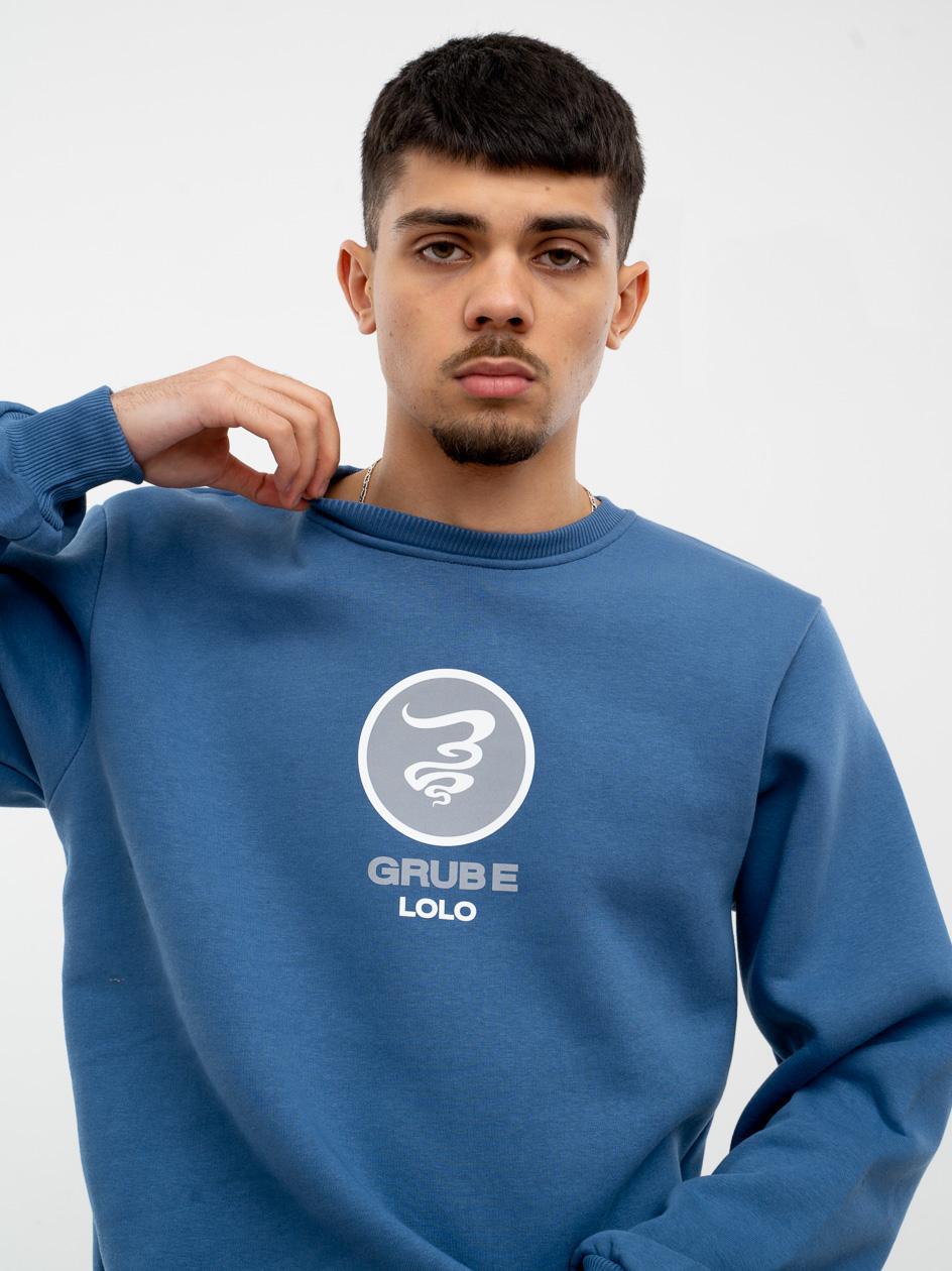 Bluza Bez Kaptura Grube Lolo Circle Reflective Niebieska
