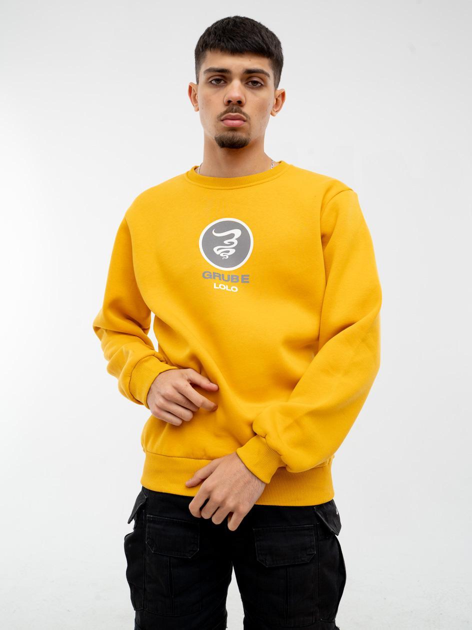 Bluza Bez Kaptura Grube Lolo Circle Reflective Żółta