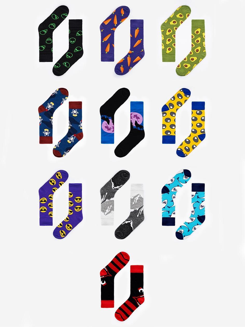 Zestaw 10 Par Skarpet MyStars x Blind Box Socks Set Mix 1 Wielokolorowe