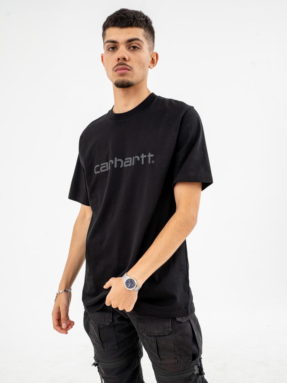 Koszulka Z Krótkim Rękawem Carhartt WIP Script Czarna / Reflective